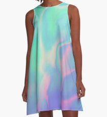 Regenbogen-See-holografische Iris A-Linien Kleid