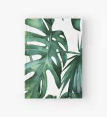 Klassischer grüner tropischer Monstera-Dschungel-Palmblatt-Druck Notizbuch