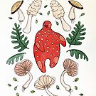 The language between mushrooms and trees. by Natalie Perkins
