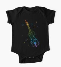 Violin with Notes 3 One Piece - Short Sleeve