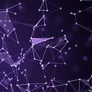 Molekülstruktur, grafischer Hintergrund der abstrakten Technologie von Viktoriia