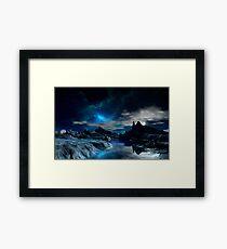 Worlds of the Blue Nebula Framed Print