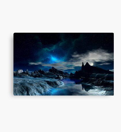 Worlds of the Blue Nebula Canvas Print