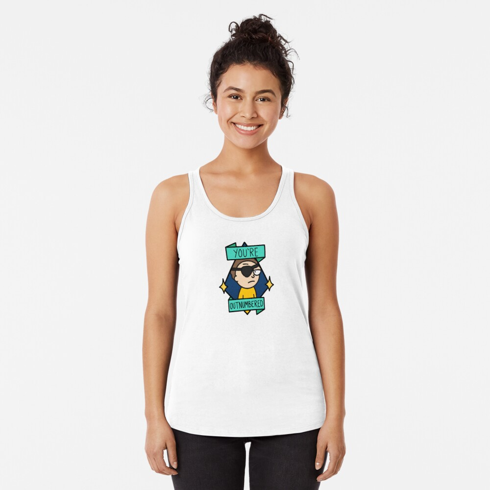 Evil Morty - You're Outnumbered Racerback Tank Top
