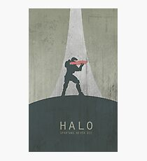 Halo Master Chief Game Poster Photographic Print