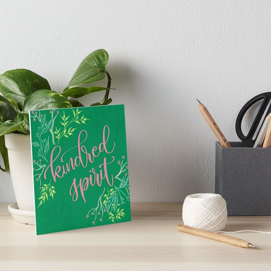 Kindred spirit - Anne of Green Gables Art Board Print