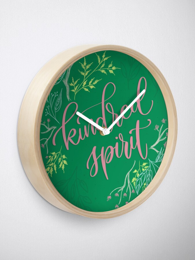 Alternate view of Kindred spirit - Anne of Green Gables Clock