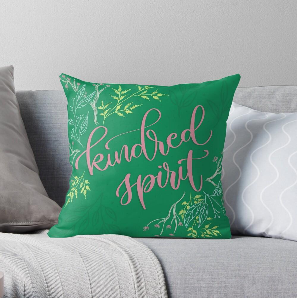 Kindred spirit - Anne of Green Gables Throw Pillow