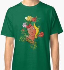 Flowers and mask Classic T-Shirt