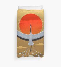Mystical crane of eternal good luck Duvet Cover