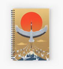 Mystical crane of eternal good luck Spiral Notebook