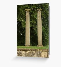 Columns at old Springfield Outdoor Concert Hall Greeting Card
