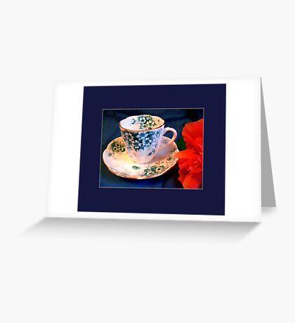 Demitasse, Floral Greeting Card