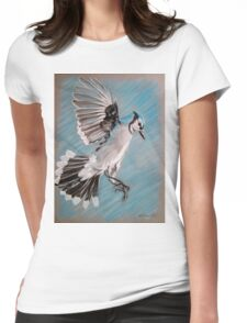 """""""Blue Jay"""" Womens Fitted T-Shirt"""