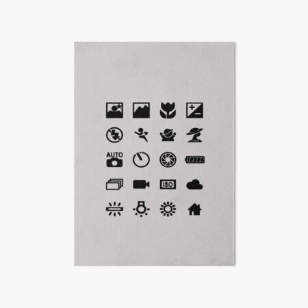 photographer symbols Art Board Print