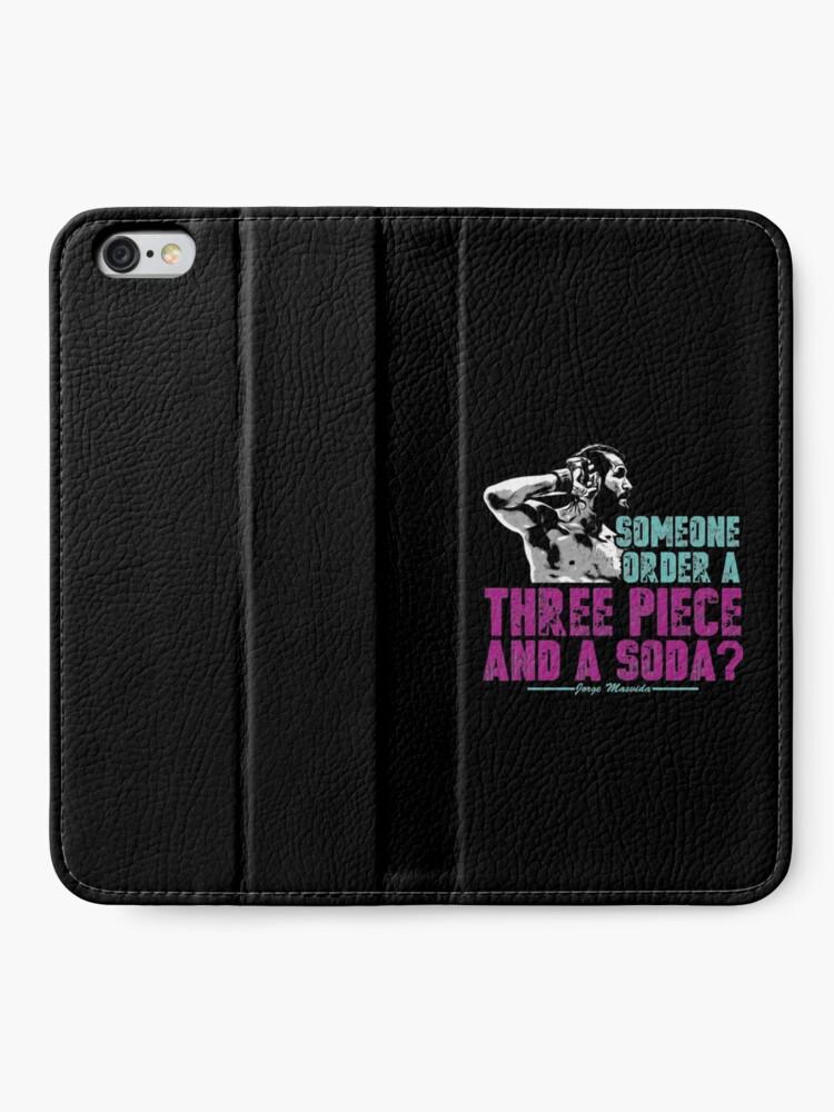 Alternative Ansicht von Jorge Masvidal - Drei Stücke Und Ein Soda iPhone Flip-Case