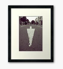 That Way Framed Print