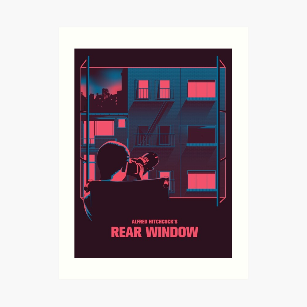 Alfred Hitchcock - Rear Window Art Print