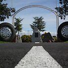 Truck drivers memorial Tamworth NSW. Australia. by Bernie Stronner