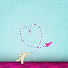 Lovey paper airplane by geooorge