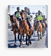 Mounted Police Metal Print