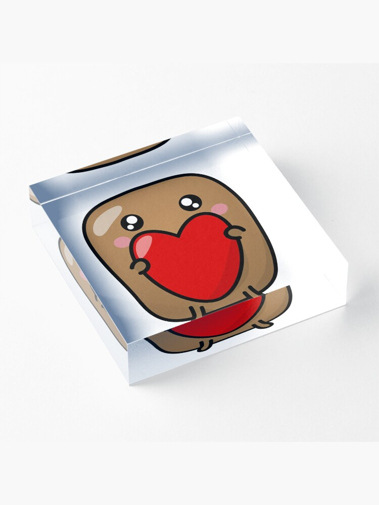 Alternate view of Jagaimo The Potato - The Heart is The Present! Acrylic Block