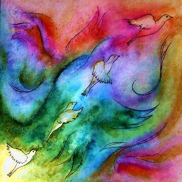 bird in flight by leesamac