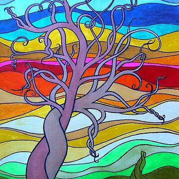 rainbow tree by leesamac
