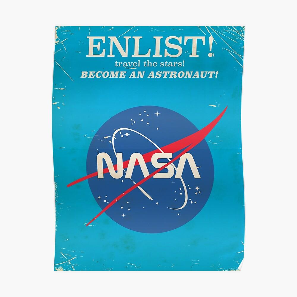Melden Sie sich an, um Astronaut zu werden! Weinlese-NASA-Plakat Poster