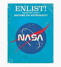 Lámina fotográfica ¡Alístate para convertirte en un astronauta! Cartel de la nasa de la vendimia