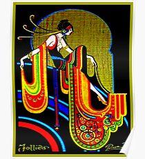 FLAPPER: Jahrgang 1920 Art Deco schönen Druck Poster