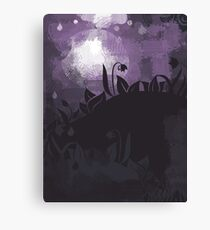 flowers at night Canvas Print