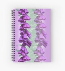 Foxglove Pattern Spiral Notebook