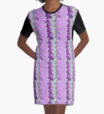 Foxglove Pattern Graphic T-Shirt Dress
