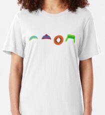 South Park Hats Slim Fit T-Shirt