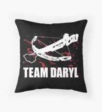 Team Daryl Dixon The Walking Dead Throw Pillow
