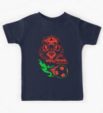 African Soccer Lion Kids Tee
