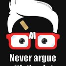 ★ Never argue with the data. | Black Version by cadcamcaefea