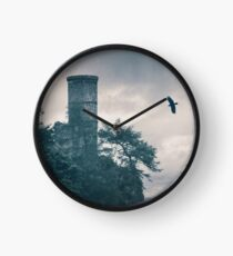 """""""The Tower Of Kinnoull Hill"""" by Cat Burton Clock"""