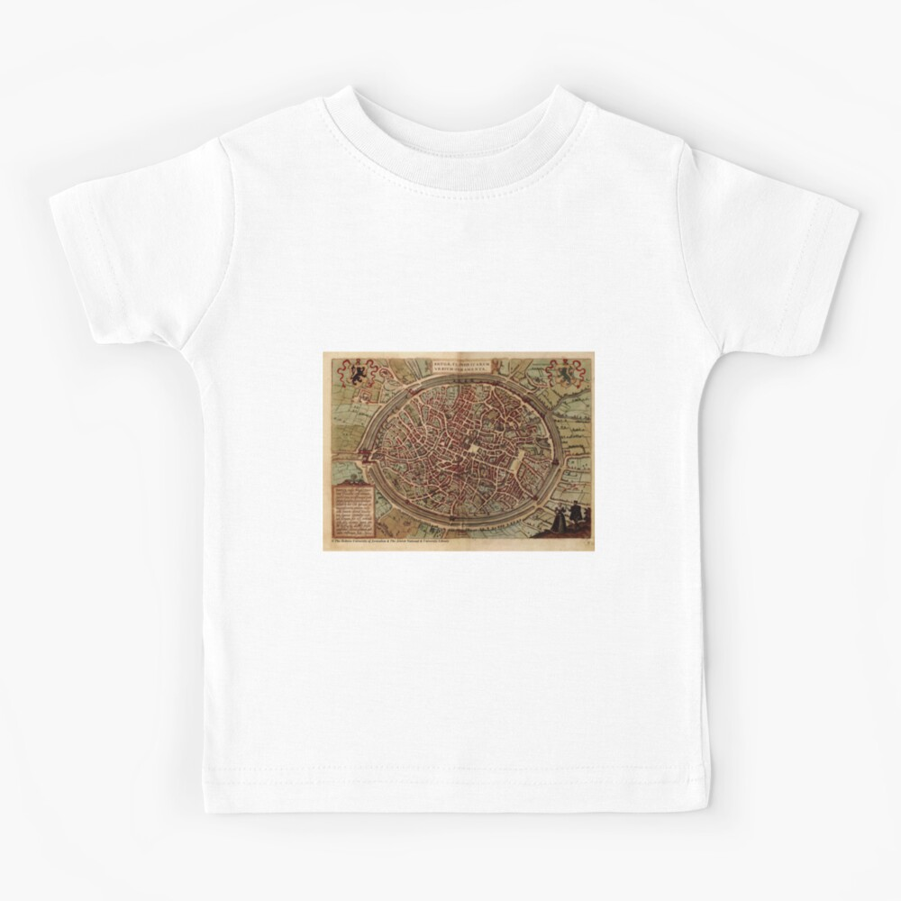 #map, #travel, #guidance, #pattern, architecture, science, cartography, physical geography Kids T-Shirt
