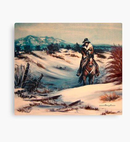Ridin' Fences Canvas Print