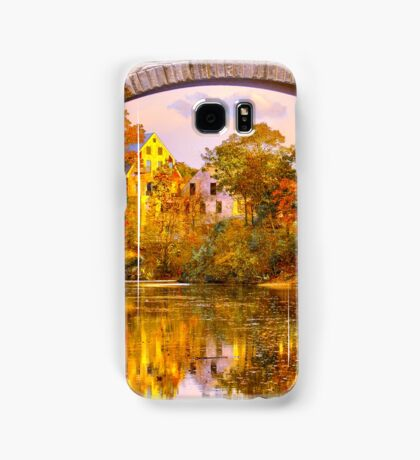 Fall at Upper Falls, Massachusetts. Echo Bridge Samsung Galaxy Case/Skin