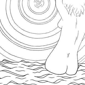 naked bather #3 by leesamac