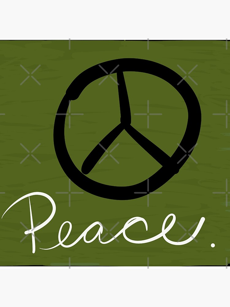 Peace - Peace Sign and Typography Art - Gift for Activist by OneDayArt