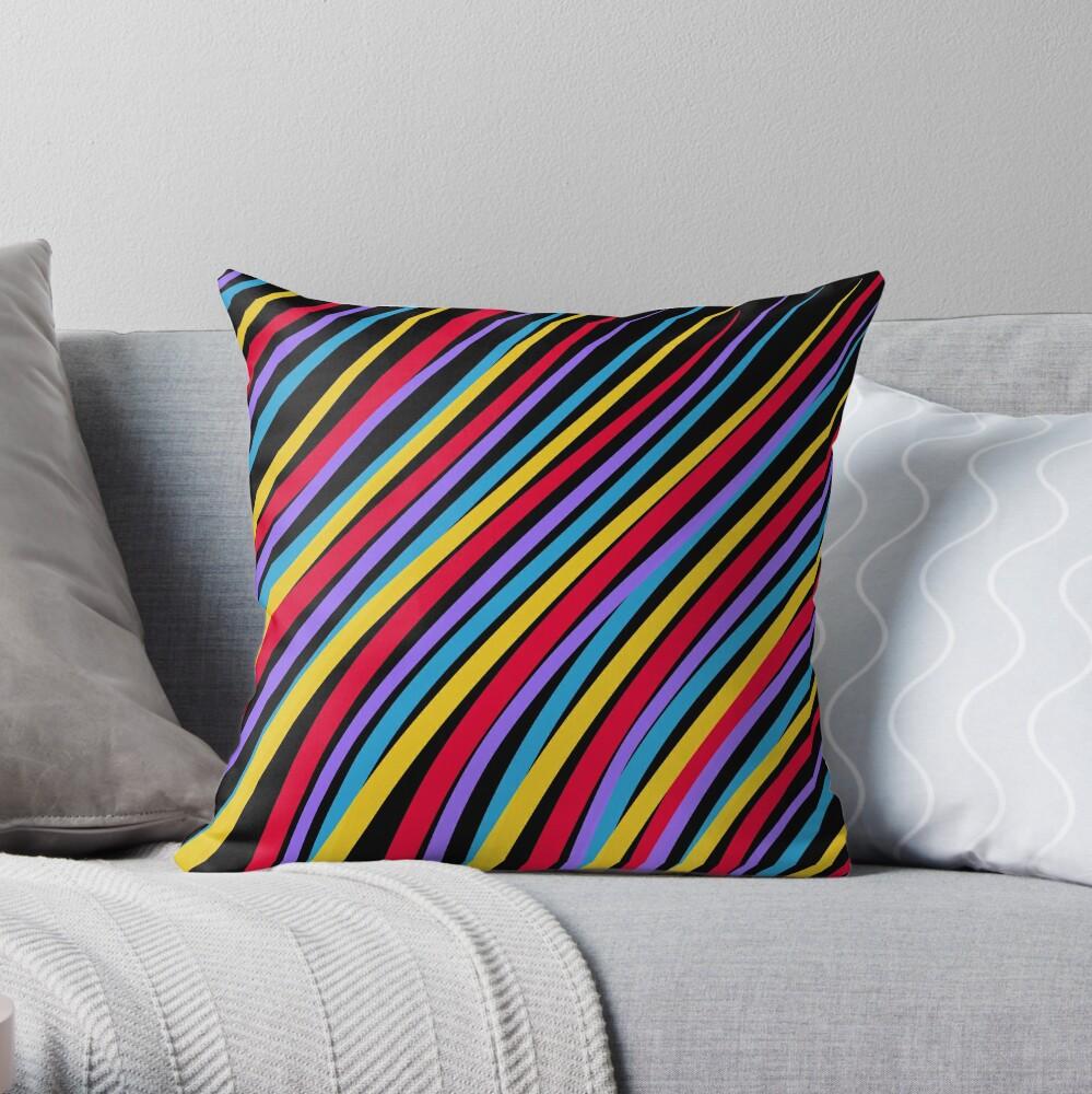Streaking by OneDayOneImage - 80s Style - Pop Art - Graduation Gift Idea Throw Pillow