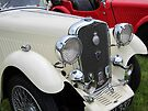 White & Red Singer classic cars by David Carton