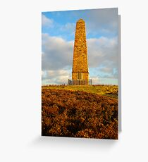 Captain Cook Monument, Easby Moor, Great Ayton, North Yorkshire Moors Greeting Card