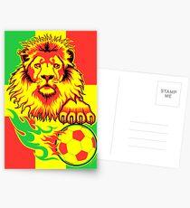 African Soccer Lion Poster Postcards