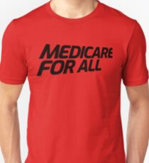 MEDICARE FOR ALL - Perspective (Black Text) Slim Fit T-Shirt