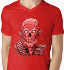 Zombie Skull Head Red T-Shirt